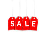 Sale Tag. Red sale tag isolated on white background Stock Images