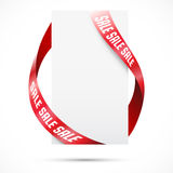 Sale tag with ribbons Royalty Free Stock Image