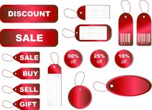 Sale Tag Set. Vector set of sale & discount tags on white background Royalty Free Stock Photo