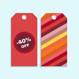 Sale tag set with discount badge Royalty Free Stock Image
