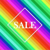 Sale Tag in square on bright colorful stock illustration