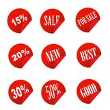 Sale tag stickers Royalty Free Stock Images