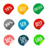 Sale tag stickers Stock Photos