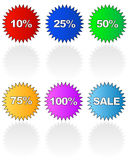 Sale tag stickers Stock Photo