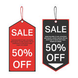 Sale tag template Royalty Free Stock Images