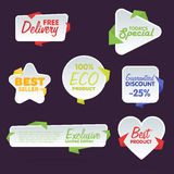 Sale tag vector isolated set Royalty Free Stock Image