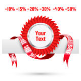 Sale tag. Vector label Stock Photography