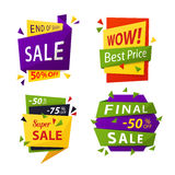 Sale tag or vector labels for price discount Royalty Free Stock Photo