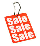 Sale tag on white Royalty Free Stock Photos