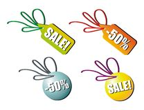 Sale tag on white Royalty Free Stock Photography