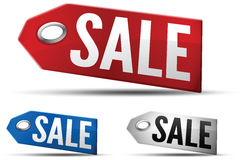 Sale Tag. On white Stock Photo