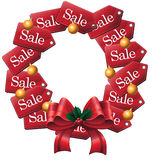 Sale tag wreath with copy space Royalty Free Stock Photos