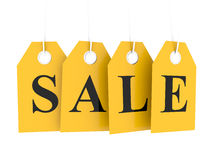 Sale tag on yellow labels Royalty Free Stock Photo
