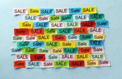 Sale  tagcloud Royalty Free Stock Photos