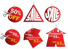 Sale tags. An illustration of different sale tags Royalty Free Stock Photography