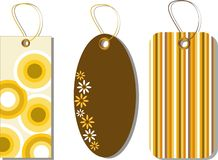 Sale Tags. Vector illustration of decorative sale tags in different shapes against white background Royalty Free Stock Photography