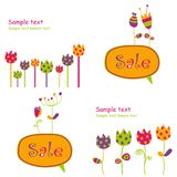 Sale tags. Set of colorful graphic illustrations Stock Photos