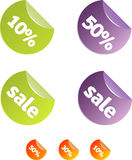 Sale tags. Set. vector only Stock Photos