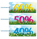 Sale Tags. Floral Sale tags. Flowers can also be found in my portfolio as backgrounds and design elements Stock Images