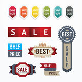 Sale tags banners vector set. Design concept for mobile shopping Stock Photos
