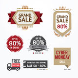 Sale tags banners vector set. Design concept for mobile shopping Royalty Free Stock Image