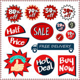 Sale tags banners vector set design concept Royalty Free Stock Photos