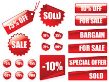 Sale tags collection Royalty Free Stock Image