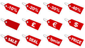 Sale tags collection Royalty Free Stock Photos