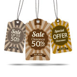 Sale Tags Collection Stock Photography