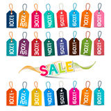 Sale Tags - Colorful Vector Labels Stock Photos