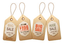 Sale tags. Concept of discount shopping. Royalty Free Stock Photography