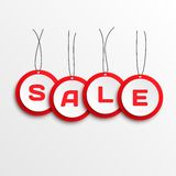 Sale tags. 3d Sale tags. Vector illustration Royalty Free Stock Photo
