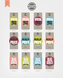 Sale Tags Design. Sale Tags and price tag vector Design, on paper Stock Illustration