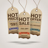 Sale Tags Design. Template. EPS10 Stock Images