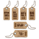 Sale Tags Design. Vintage Style Sale Tags Design Stock Image
