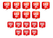Sale tags discount bullet Royalty Free Stock Photography