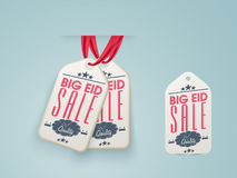Sale tags for Eid festival celebration. Stock Photography
