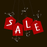 Sale tags with figures Royalty Free Stock Photo