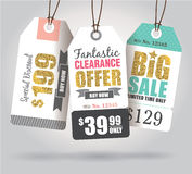 Sale tags Stock Photography