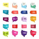 Sale Tags and/or Graphic Elements in Paper Style. Promotional badges and sale tags for your designs, such us for online shop, email newsletter or email Stock Photos