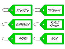 Sale Tags 4 Green Stock Photo