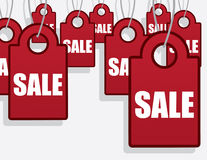 Sale Tags Hanging Royalty Free Stock Images
