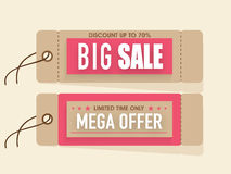Sale tags for Happy Womens Day celebration. Stock Photo