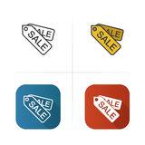Sale tags icon. Flat design, linear color styles.  vector illustrations. Stock Image