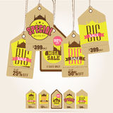 Sale tags for Islamic festival, Eid Mubarak celebration. Stock Images