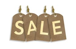 Sale Tags Isolated on White Royalty Free Stock Photography