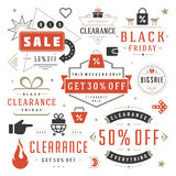 Sale Tags and Labels Design Vector Vintage Set Royalty Free Stock Photography