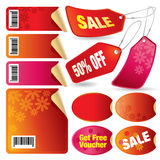 Sale tags, labels and stars Stock Photography
