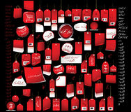 Sale  tags  red colour Royalty Free Stock Photography