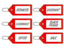 Sale Tags 1 Red Stock Images
